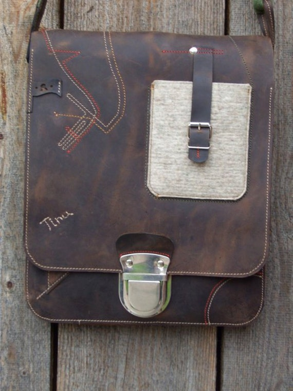 17 inch Vertical Laptop Bag, Messenger Bag, Office Bag, Full Grain Leather Laptop Bag, Slim Laptop Bag,Handmade Laptop Bag