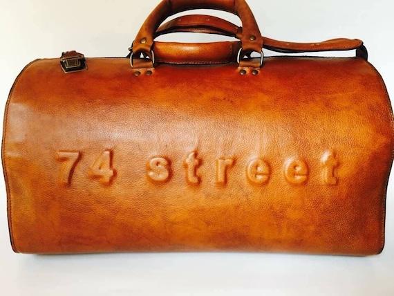 Duffel Bag, Rusty Brown Travel Bag, Sports Bag, Leather Weekender Bag, Leather Bag