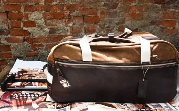 74street Leather Troller,holiday Genuine Leather Trolley,Man Luggage,Custom order par avion trolley bag