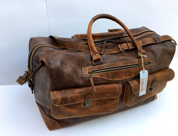 Travel Bag, Large Handmade Travel Bag, Business travel Bag, Leather Office Travel Bag,Custom size travel bag, Leather Luggage