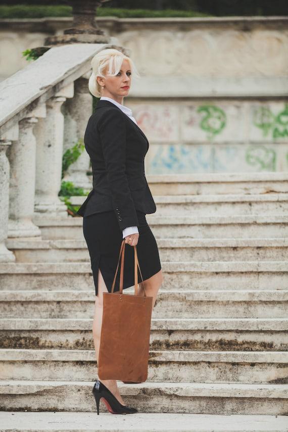 Leather Shoulder Bag, Business Tote Bag, Office Bag, Shoulder bag, Tote Bag,