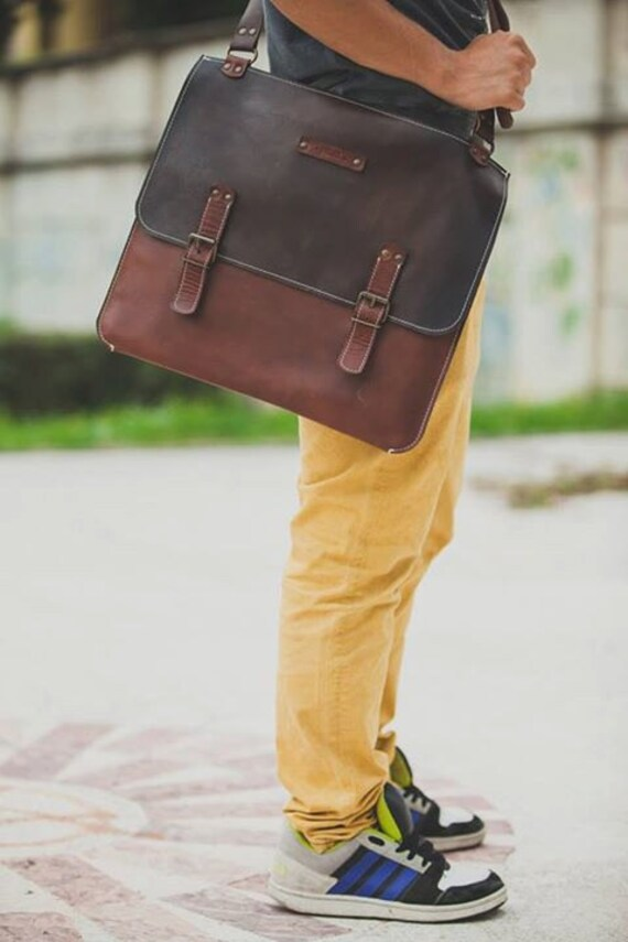 Slim Briefcase, Minimalist laptop bag, leather bag, leather slim bag, leather briefcase, handmade briefcase, l