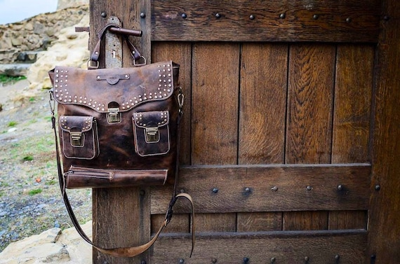 Full grain leather bag, handmade tote bag, leather bag, laptop bag, office bag,autumn