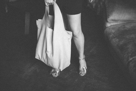 74street street bag, Yellow  Leather Tote Bag, Ivory Tote Leather Bag, Tote Leather Bag, Shoulder Bag, Handmade Bag, Woman