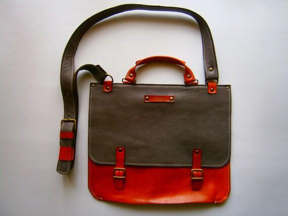 """15""""laptop Bag,Genuine Leather Briefcase, Messenger Bag, Handmade Leather Bag,Men's retro satchel bag,student bag, School bag"""