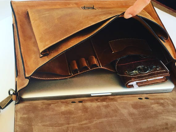 15 inch laptop bag, Mr.Jones's Rusty Briefcase, Leather Briefcase, Genuine Leather Messenger Bag, Office Bag, Man  Laptop Bag