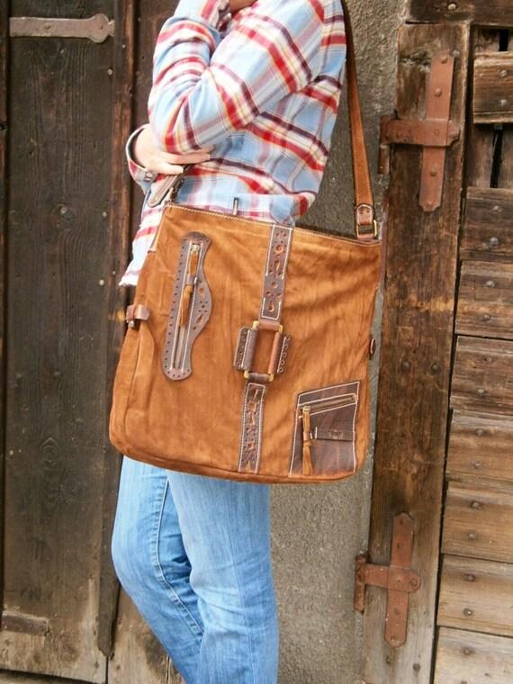 15 inch Ethno Leather Laptop Shoulder Bag,Etno Handmade Bag, Genuine leather Messenger Bag, Office bag, Laptop Leather bag