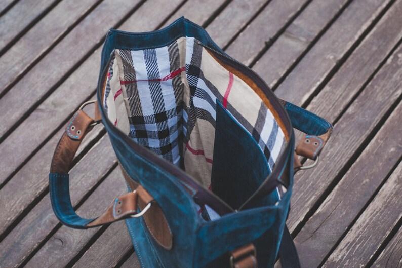 74street messenger bag Full Grain Laptop Bag Top Handle Bag Zippered Bag Luxury Blue Leather Bag Leather Bag Vertical FREE SHIPPING