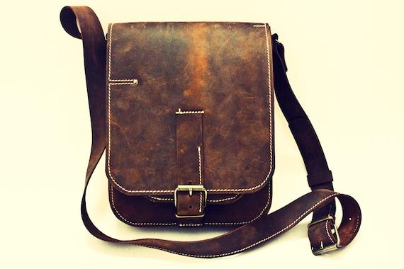 IPad Hunter Leather Bag, Ipad Genuine Leather Bag,Man Pouch, IPad Bag, Man Cross Body Bag, IPad Bag, Handmade IPad Bag