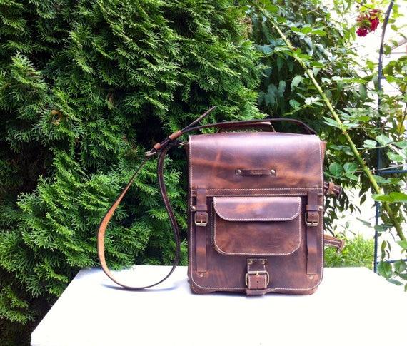Secret Pocket Bag, Leather Bag, Safety Bag, Leather Laptop Briefcase, Handle bag, Leather Messenger Bag, Office Briefcase