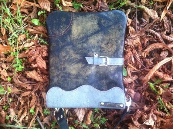 Luxury iPad Patina Leather Bag, Vintage Patina Leather Bag, iPad tote bagCross Body Leather Bag, Cross Over lLeather Bag