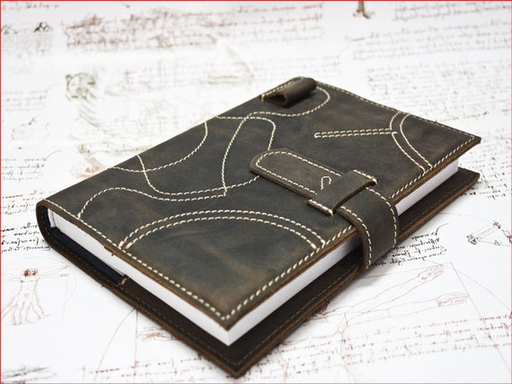 Gothic Business Agenda Case, Genuine Leather Agenda Case, Leather Notebook