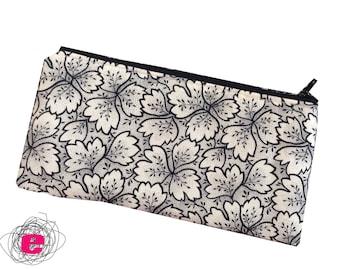 Pencil Case , Zipper Pouch black and white