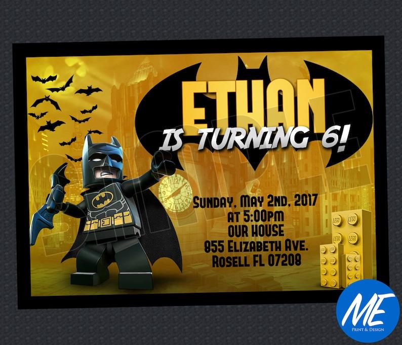 Lego Batman Birthday Invitation Printable