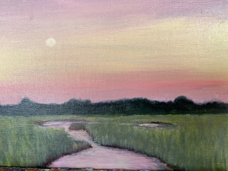 Marsh Sunset by Marie King image 0