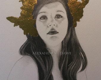 Framed Original- 'Autumn Crown'