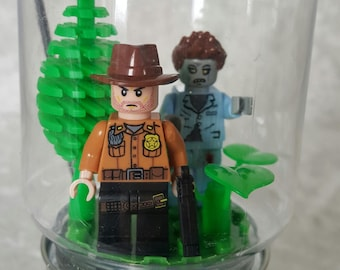 Rick Grimes Walking Dead lego ornament