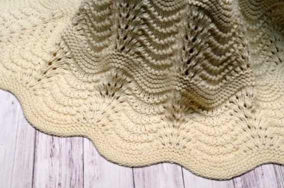 Organic Baby Blanket Heirloom Quality Feather And Fan Lace Etsy