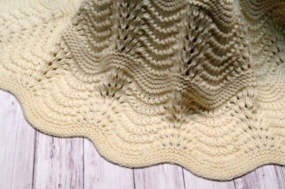 Organic Cotton Lace Baby Blanket Heirloom Feather And Fan Etsy