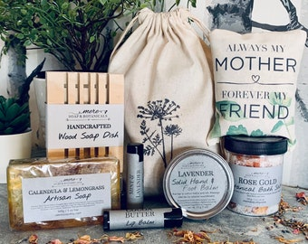 Gift Bag for Mom, Mom's Birthday, Mother's Day Gift Set - Botanically Infused Natural Body Care with Scented Sachet