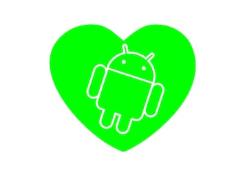 Android Love Decals Set of 4 in Lime Green