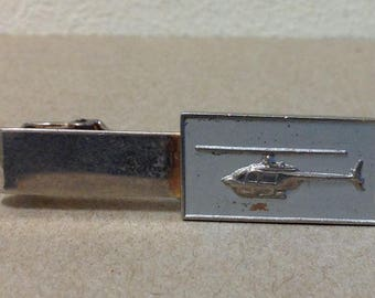 Engraved Simple Helicopter Square Tie Clip