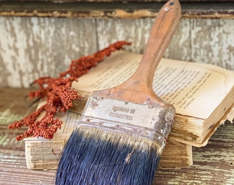 "Vintage Wooden Paint Brush Farmhouse Decor Industrial Salvage  WESTCHESTER 4"" USA"