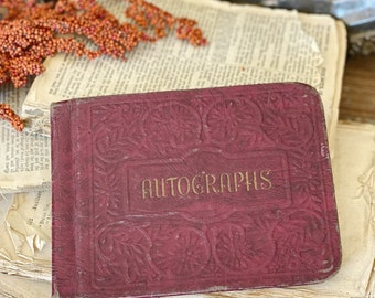 Antique AUTOGRAPHS Book SCHOOL 1947 Memo Journal Year Book