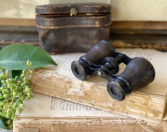 Antique Binoculars OPERA Glasses LEMAIRE PARIS French Industrial Salvage Decor French Farmhouse Decor