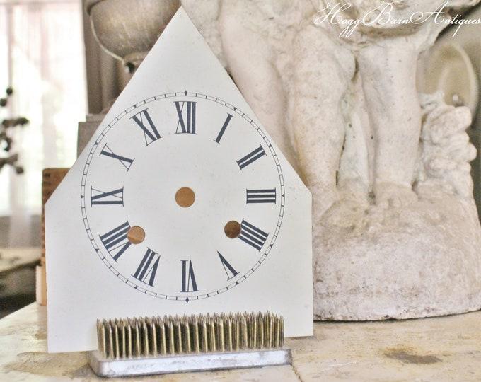Featured listing image: Antique Clock Face Steeple Farmhouse Decor Industrial Salvage Fixer Upper Decor Vintage Metal Clock Dial