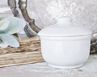Vintage Ironstone Crock Jar Bowl TEPCO China Restaurant Ware French Farmhouse Decor Fixer Upper Style