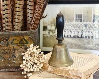 Antique Brass Serving Handheld  Bell Dinner Service School Bell Farmhouse Decor