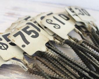 Cash Register Parts Vintage Metal Cash Register Flag Black White Numbers Industrial Farmhouse Decor 15 Cent