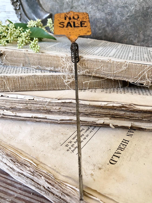 Cash Register Parts Vintage Metal Cash Register Flag NO SALE
