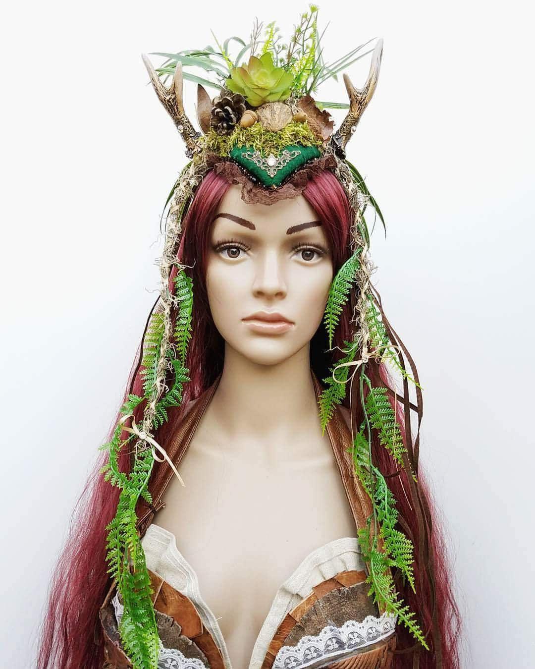 Prinzessin von Wald Kopfschmuck Nymphe Kopfschmuck Geweih