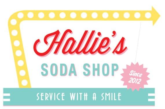 Soda Shop Retro 50s Diner Birthday Sign PINK / 20x30 /   Etsy
