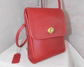 Coach Vintage  Scooter  Bag~  L4D-9893 ~ Brass ~ RED ~ Never Used Condition 21ffbb4fef605