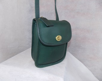 COACH ~  Sidepack  Bag  M5C-9978 ~ Brass ~ Bottle Green! ~ Excellent Vintage  Condition 57013b8cfe7eb
