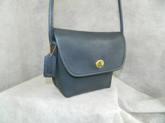 Coach Vintage 9919 Quincy Bag Brass NAVY BLUE Exce