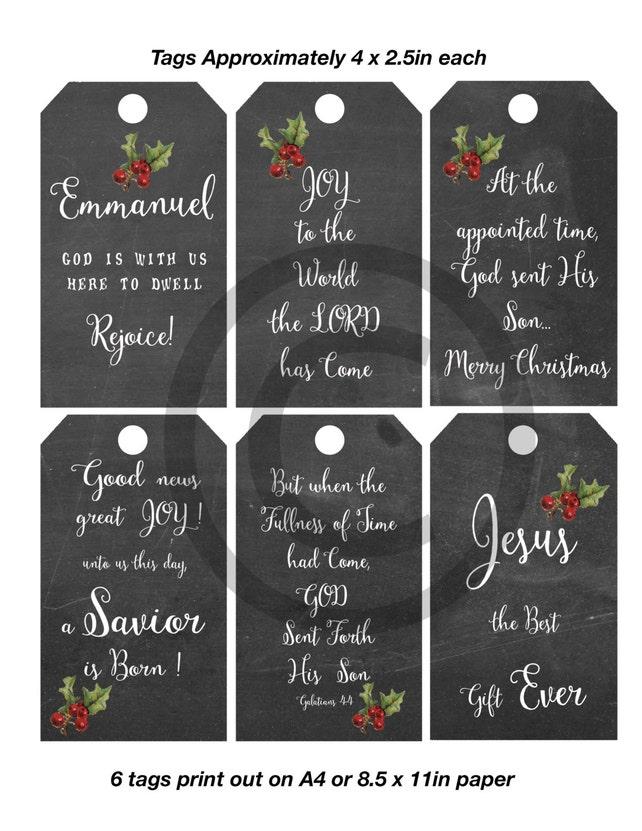 Weihnachten Tag druckbare Christian religiösen Stichwörter. | Etsy