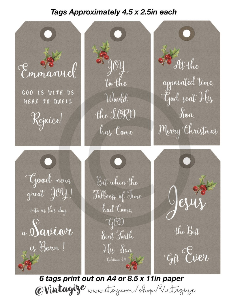 picture about Newks Printable Menu referred to as Printable Xmas Christian Spiritual Reward Tags. Impartial Kraft Paper Tags Instantaneous Down load Authentic Printable Nativity Collage