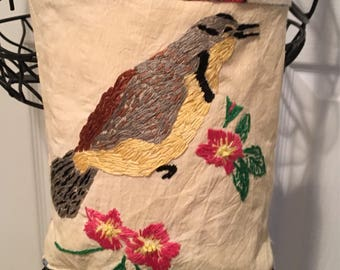 SOLD! Birdie Crossbody Wearable Art Purse One Of A Kind SewBeeMine