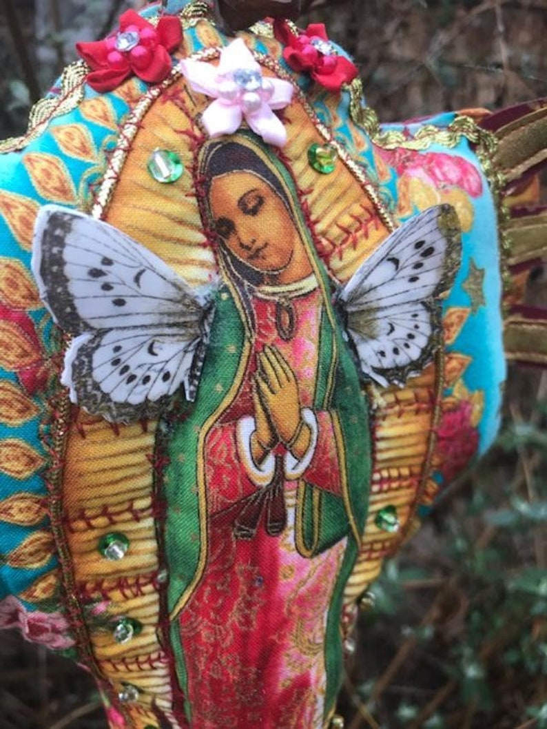 Virgin of Guadalupe Doll One of a Kind Sew Bee Mine image 0