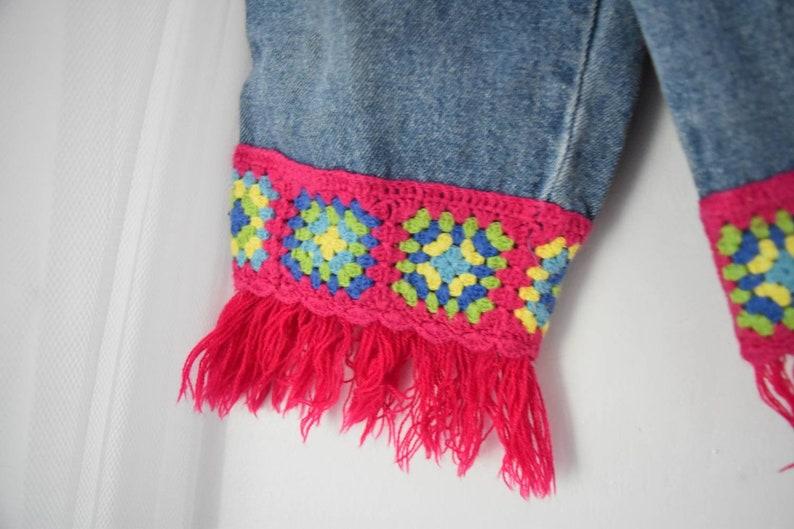 Vintage 12 Months Girls Hippie Crochet Jeans