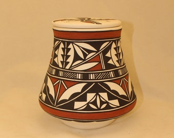 Native American Urn Ceramic Jar with lid, Adult Cremation Urn for Human Ashes, art pottery, handmade