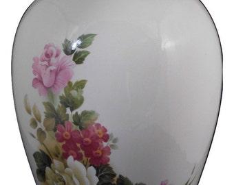 Roses Adult Cremation Urn, Ceramic Jar with Lid, Human Ashes Large Urn, Large Jar, Large Funeral Urn, Art Pottery, Handmade Ginger Jar Urn