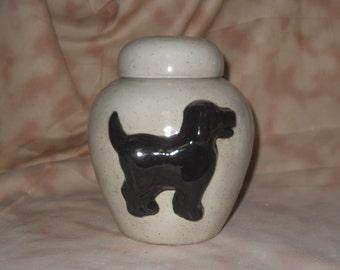 Dog Urn Ceramic jar with lid,urn Jar with lid,Small Cremation urn,  jar, art pottery, handmade
