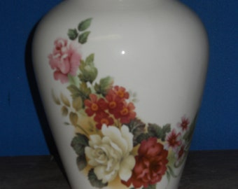 Roses on Cremation Urn, Ceramic Jar with Lid, Adult Urn, Jar with lid, large urn, large jar, Ginger Jar, art pottery, handmade  funeral urn