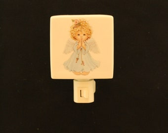 Angel Porcelain Night Light memorial gift, Infant Memorial Gift Nightlight, Decorative Remembrance