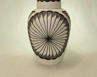 Native American Urn Ceramic Jar with Lid, Adult Cremation Urn, Urn for Human Ashes, large Cremation Urn, large jar, art pottery, handmade